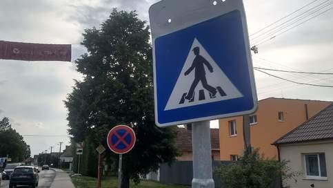 Poškodenie dopravného značenia