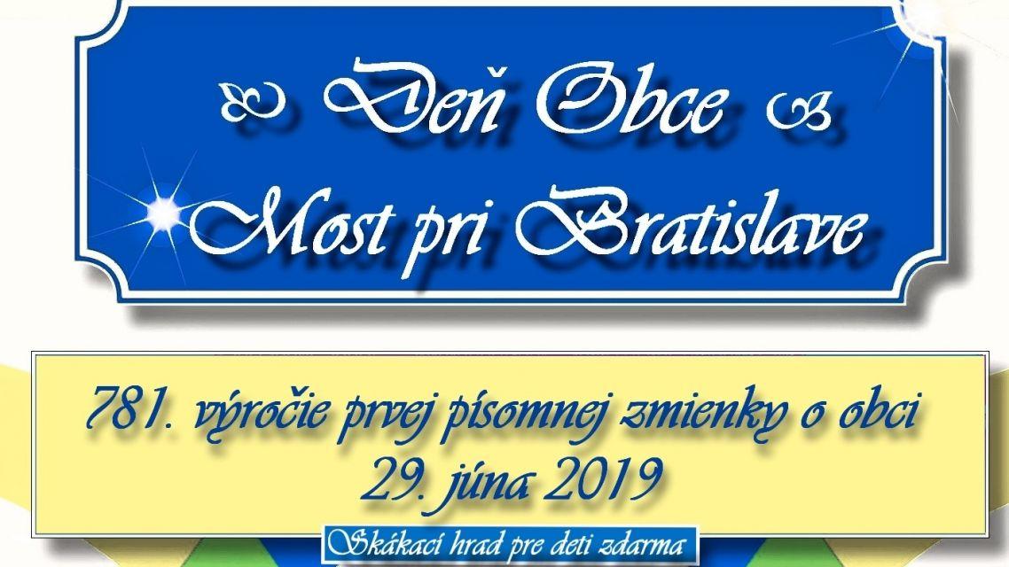 Pozvánka na Deň Obce 2019