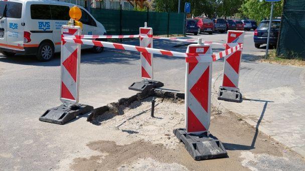 Oprava vodovodnej siete na Športovej ulici pred Materskou školou